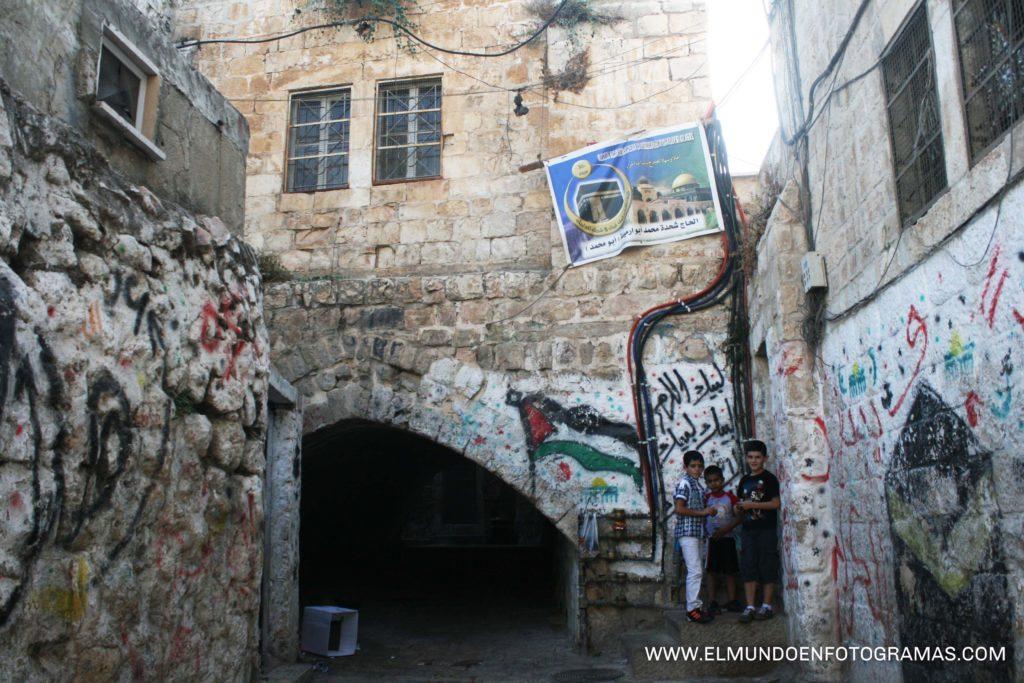 Calle del barrio musulmán jerusalén
